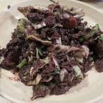 山羊料理 美咲 - 血イリチーのアップ