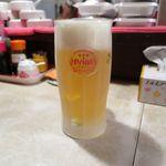 山羊料理 美咲 - オリオン生ビール(500円)