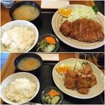 52551758 - ロースカツ定食と串カツ定食