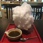 ちゃ大和園 - ほうじ茶(あずきトッピング)