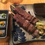 52552665 - たんかの牛タンと牛サガリのハーフ焼き(1本1300円)