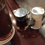 服部珈琲舎 - ガムシロップとミルクは喫茶店では既製品でなくこうでないと。