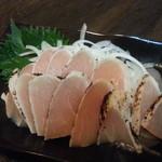 餃子亭 - 若鶏のたたき(昆布〆)