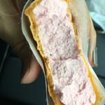 梅の里会館 - 梅アイスもなか(¥210)