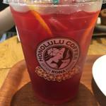 ホノルルコーヒー - ハイビスカスレモネードティー(¥450)