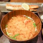 白銀屋 - 海老入り味噌汁