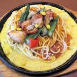 パスタ・デ・ココ - 鉄板チキンと夏野菜