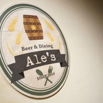 Beer&Dining Ale's - サイン