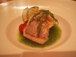il desiderio ORTAGGIO - 本日のお魚のヴァポーレ 初夏の瓜のスープ仕立て