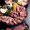 焼肉レストラン 八坂 あら川 - 料理写真:和牛焼肉盛り合わせ 上カルビ・上ロース・カルビ・ロースの400gと野菜焼きの盛り合わせ