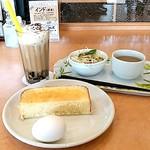 ユトリ珈琲店 - 【2016.6】モーニングサービス*カフェゼリー(450円)