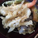 まるぬき - 白魚と野菜の天麩羅