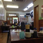 神山 府大前店 - H.28.6.22.昼 最奥テーブル席から出入口方向