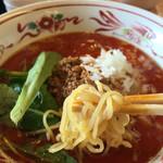 52571666 - 汁あり担々麺【辛さ増し】:920円 麺は細麺。もちプリな麺( ´ ▽ ` )ノ