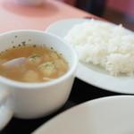 トラットリア ボスコ - セットスープ、メシ