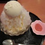 甘味処 由はら - 氷アンズミルククリーム 980円
