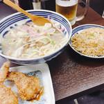 丸功ちゃんぽん - チャンポンと手羽から半チャン