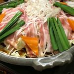 旬彩庵 - 豚バラ肉の陶板焼き