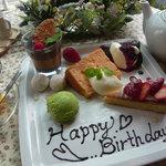 R cafe - 〜バースデープレート〜お好きなドルチェで承ります★