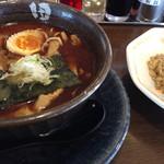 麺処田ぶし - 田ぶしラーメン+半チャーハン