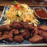 鉄火 - 牛W焼肉定食(単体、肉1.5倍)