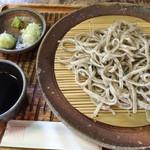そば蔵 谷川 - もりそば手挽き太麺。