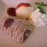 CAFE J-FACTORY - モンブランケーキセット