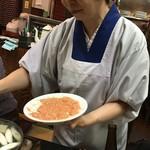 軍鶏丸 - 軍鶏鍋作る女将