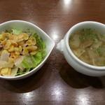 プティヴェール - サラダ&スープ(ランチ)2016.6.22