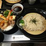 Isogamifuraibaru - ランチセット             ざる蕎麦&天丼(大)             ¥1,000
