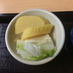 総本家 朝日屋 - カツ丼1080円(税込み)セットのお漬物