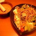 526367 - 牛蒡蓮根お豆腐の金胡麻サラダ