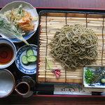 牧之庵 - 天ぷら膳盛そば(うどん):天ぷら材料は自家栽培無農薬野菜が主体