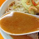 ラーメンエース - 【限定】ラーメン650円(少なめ)+エビ味30円(スープ)