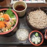 旬鮮市場 海輝 - 五目バラちらしセット ¥750-