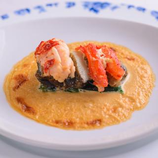 【北海道産】新鮮な魚!かに!貝類などを、創作フレンチで!