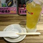 とろ鮪 - とろ鮪 西葛西店 入店1時間1杯につき190円(税別)ドリンクの中から緑茶葉アイスハイ