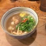 52613621 - 鶏と柚子の塩つけ麺   750円       つけ汁