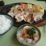 レストラン久貴 - 和風ポークソテー1100円