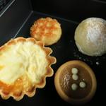 52616745 - 二の重 チーズのキッシュ オリーブオイルのブリオッシュ タルトドゥルセイ ソフトビスコット