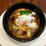 ろだん亭 - 料理写真:チーズたっぷり 土鍋焼き カレー丼