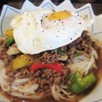 イムキッチン - ガパオフォー700円。                             タイ風汁なし担々麺みたいな~。