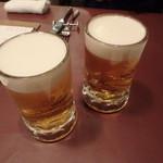 テルツィーナ - やっぱりビールで乾杯ですね