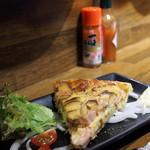 虎食堂 - ハムとチーズのキッシュ