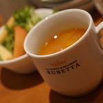 PATISSERIE & BRASSERIE RUBETTA - スープはミネストローネであえての魚介風味が…なくても良いかな