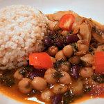 パチャカリ -  ひよこ豆とレッドキドニー豆のカレー
