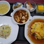 中国料理 白楽天 - おすすめ定食 1390円(蟹玉)