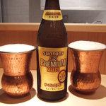 カフェ マメヒコ パートⅢ - ビール中(600円) 大好きなプレミアムモルツ。