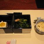5266854 - 嶺岡豆腐&お浸し&湯葉煮