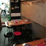Usagishokudou - 店内入り口テーブル席